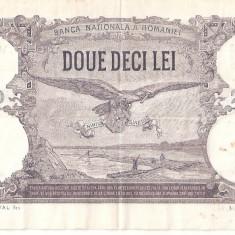 ROMANIA 20 LEI 1929 XF - Bancnota romaneasca