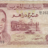 MAROC 10 dirhams 1970 - bancnota africa