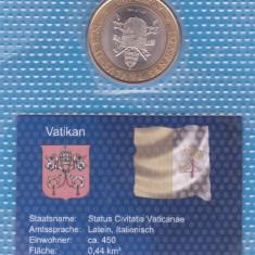 (M919) MONEDA VATICAN - 1.000 LIRE 2001, BIMETALICA, PAPA IOAN PAUL II-STARE UNC, Europa