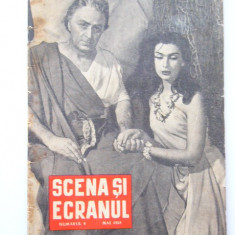 BRPG - SCENA SI ECRANUL - MAI 1958 - Pliant Meniu Reclama tiparita