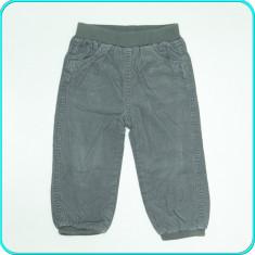 Pantaloni de catifea, captusiti cu bumbac, C&A _ baieti | 12 - 18 luni | 80 - 86, Marime: Alta, Culoare: Gri