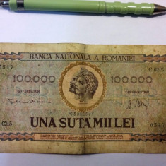 100000 LEI 1947 + BONUS 2 BANCNOTE VECHI - Bancnota romaneasca