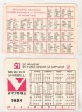 bnk cld Calendar de buzunar - Magazinul Victoria Bucuresti 1988