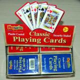 PlayWrite - Carti de Joc clasice plastifiate - 12 bucati (6 rosii si 6 albastre) - Joc board game