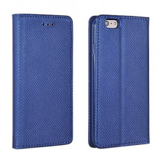 Husa Microsoft Lumia 650 Nokia Flip Case Slim Inchidere Magnetica Navy - Husa Telefon Nokia, Albastru, Piele Ecologica, Cu clapeta, Toc