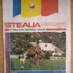 BRPG - PROGRAM - STEAUA BUCURESTI - IN FINALA CUPEI CAMPIONILOR EUROPENI - 1986 - Pliant Meniu Reclama tiparita