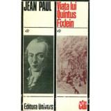 Jean Paul - Viata lui Quintus Fixlein