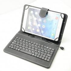 Husa cu Tastatura Tableta 7 inch Universala Black - Husa tableta cu tastatura