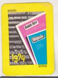 Bnk cld Calendar de buzunar - 1974 - Cititi Romania Libera