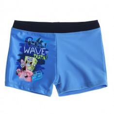 Slip de baie tip boxeri Sponge Bob albastru marin