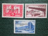 TIMBRE GERMANIA SAAR-SET MNH=DUBLU TIPAR, Nestampilat