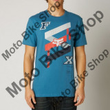 MBS FOX T-SHIRT PODIUM BOUND PREMIUM, blue steel, L, Cod Produs: 14818305LAU, Maneca scurta