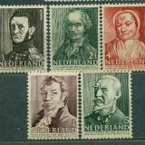 1941 Olanda Personalitati - serie neuzata mnh, Nestampilat