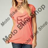 MBS Fox Girl T-Shirt Extent V-Neck, Acid Red, Dl, P:16/193, Cod Produs: 14637101LAU