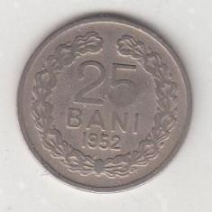 25 bani 1952 RPR Stema fara stea L 1.24 - Moneda Romania, Cupru-Nichel