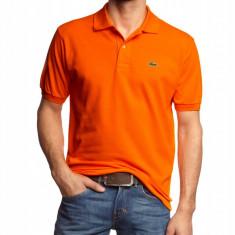 Tricou Lacoste polo Orange 5 (L) - Tricou barbati Lacoste, Marime: L, Maneca scurta, Bumbac