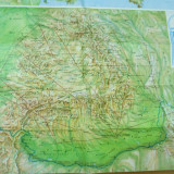 Romania Europa harta lumii Tarom harta rutelor aeriene route map - Carte Geografie