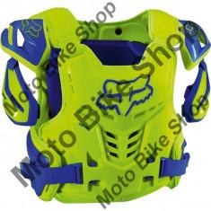 MBS Fox Brustpanzer Raptor Vest Ce, Yellow/Blue, S/M, P:16/132, Cod Produs: 12351026SMAU - Armura moto
