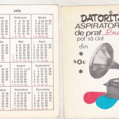 bnk cld Calendar de buzunar - 1970 - Aspiratorul Practic