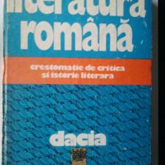 LITERATURA ROMANA - CRESTOMATIE DE CRITICA SI ISTORIE LITERARA ( P4 )