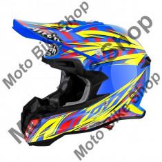 MBS Airoh Helm Mx Terminator 2.1 Lightning Blue, Blau Glanzend, L=59-60, P:16/092, Cod Produs: T2LG18LAU - Casca moto