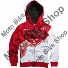 MBS Fox Kinder Zip Hoody Eracer, Red, Kxl, P:16/039, Cod Produs: 08882003XLAU