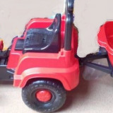 Tractor mare cu pedale si remorca