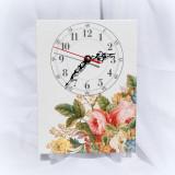 Ceas pe panza cu model floral - 8725 - Ceas de perete