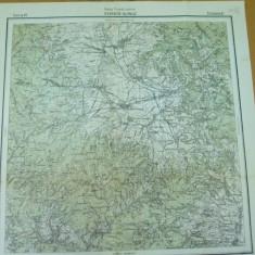 Joseni Alfalau Harghita Transilvania serviciul geografic al armatei harta color