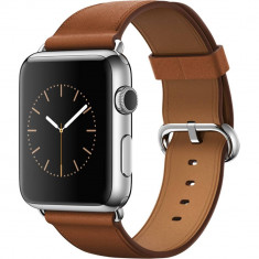 Smartwatch Apple Watch 42mm Stainless Steel Case Saddle Brown Classic Buckle
