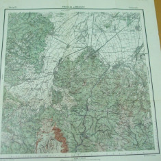 Predeal Brasov Transilvania harta militara color serviciul geografic al armatei - Harta Romaniei