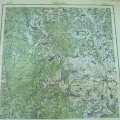 Targu Ocna Bacau Moldova 1916 harta militara color - Harta Romaniei