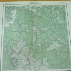 Dragoiasa Suceava Moldova Toplita Harghita Transilvania 1916 harta militara - Harta Romaniei