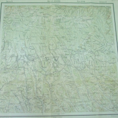 Baile Govora Valcea 1916 serviciul geografic al armatei harta militara color - Harta Romaniei