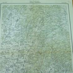 Odorheiu Secuiesc Harghita Transilvania harta militara color