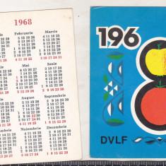 Bnk cld Calendar de buzunar - 1968 - DVLF - Calendar colectie