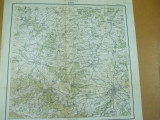 Sibiu Transilvania 1916 harta militara color