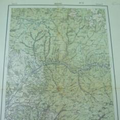 Alunis Mures Transilvania Fitcau Lunca Muresului 1916 harta militara color - Harta Romaniei