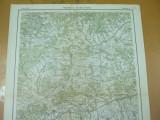 Porumbacul de Jos Avrig Sibiu Transilvania 1930 harta militara color