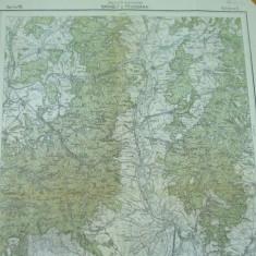 Baraolt Covasna Feldioara Transilvania harta militara color - Harta Romaniei