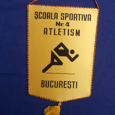 FANION SCOALA SPORTIVA NR. 4 ATLETISM BUCURESTI - Fanion atletism
