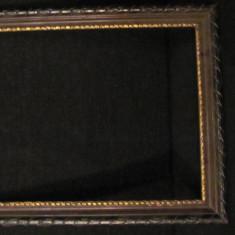 GE - Rama veche din lemn pentru tablou ori fotografie mare (2) - Rama Tablou, Decupaj: Dreptunghiular
