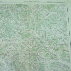 Baia de Arama Brosteni Mehedinti Oltenia 1934 harta militara color - Harta Romaniei