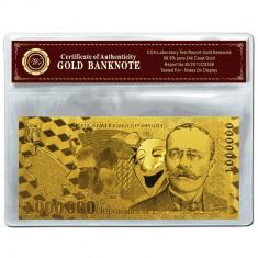 ROMANIA 1000000 LEI 2003 POLYMER AURIT CU AUR 24K - Bancnota romaneasca, An: 2005