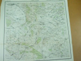 Drobeta Turnu Severin Turnul - Severin Mehedinti Oltenia Banat 1916 harta color