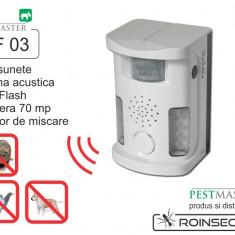 Bird Ultrasound Repeller Pestmaster UAF03 (anti pasari, anti rozatoare, anti animale) 70mp