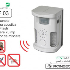 Bird Ultrasound Repeller Pestmaster UAF03 (anti pasari, anti rozatoare, anti animale) 70mp - Aparat antidaunatori