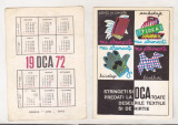 bnk cld Calendar de buzunar - 1972 - DCA