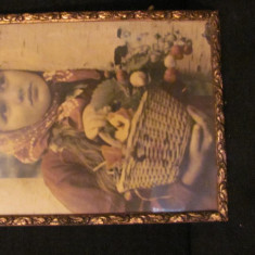 GE - Rama veche din lemn pentru tablou ori fotografie mare (6) - Rama Tablou, Decupaj: Dreptunghiular