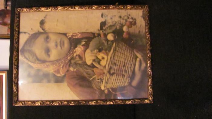 GE - Rama veche din lemn pentru tablou ori fotografie mare (6)